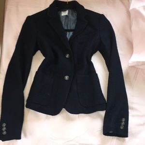 Navy Blue Blazer Wool